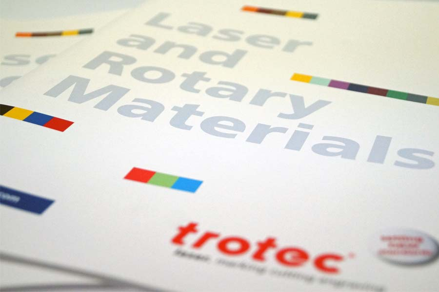 Engraveable materials catalogue