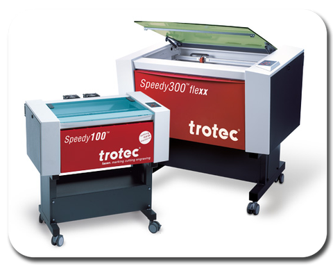 Trotec Speedy 300 and 100 laser